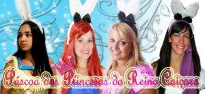 Banner do evento com Pocahontas (Nana), Ariel (Camila), Aurora (Thamiris) e Esmeralda (Dani). Editado pela Cinderella (Maíra) :)