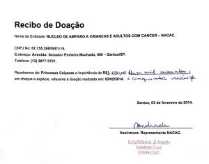 recibodoacao_nacac_princesascaicaras2014