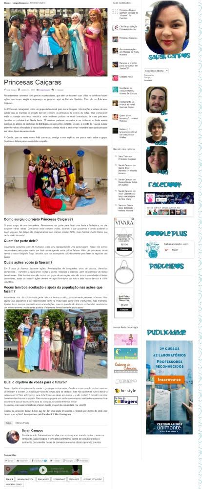 Entrevista para o blog Sahssaricando